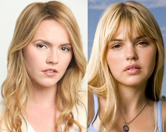 """Separated at birth? """"Paranormal Apparition"""" actress Lulu Brud and Aimee Teegarden."""