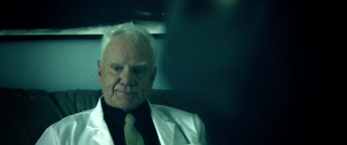 Malcolm McDowell expresses how the audience feels while watching this movie.