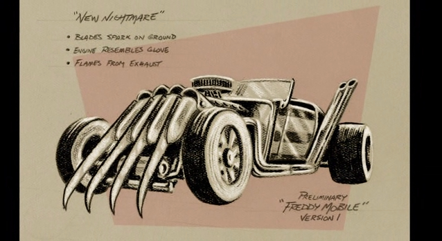"""Unused concept of a """"Freddy Mobile"""" for """"Wes Craven's New Nightmare."""""""