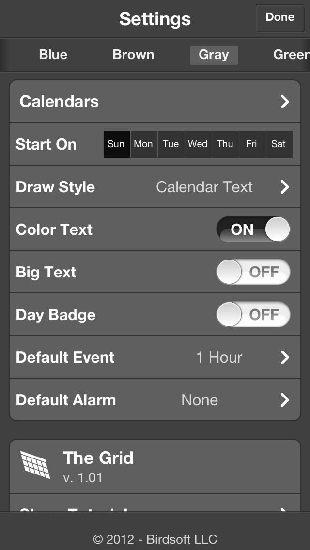 iPhonaddict Reviews: The Grid - Calendar by Birdsoft LLC