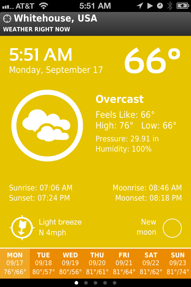 iOS App of the Moment: ClearWeather for iPhone