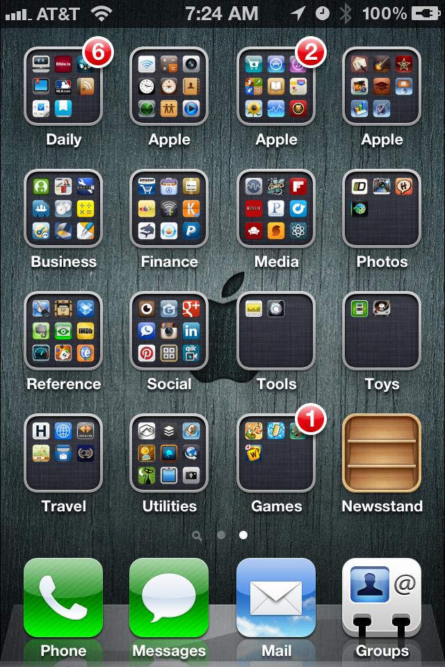 My Formulated Process for App Organization