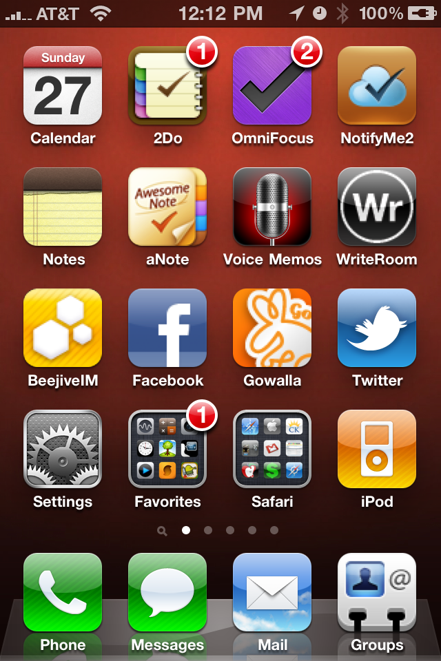 My iPhone homescreen is made up of the apps that I want one touch access to. All my other pages of apps are nothing but folders containing apps that share the same category. 