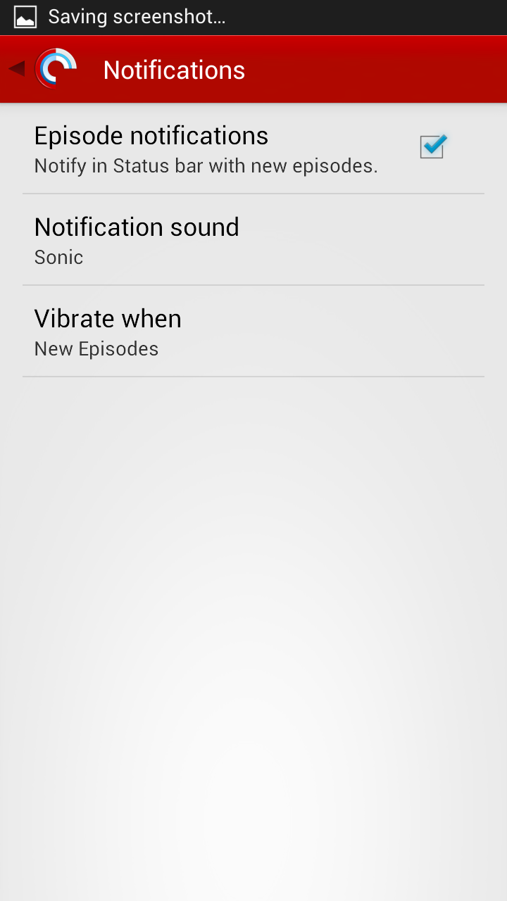 Pocket Casts 4 Notifications Settings