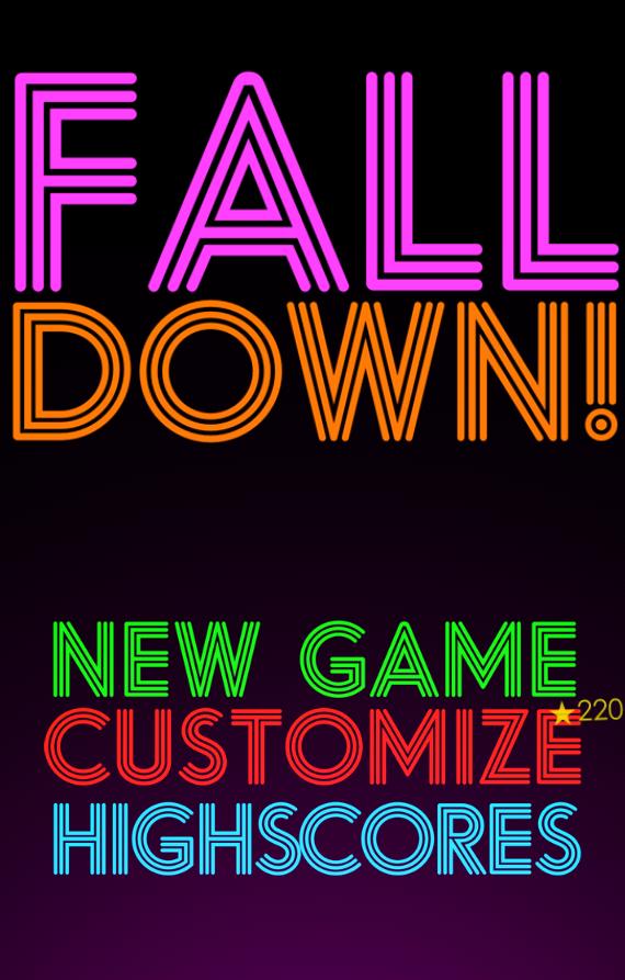 Title Screen for Falldown! 2