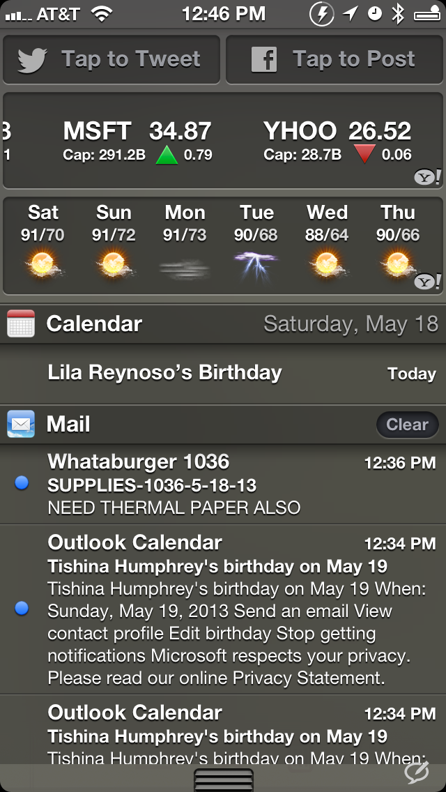 Bulletin:  My main purpose for using this tweak is to clear all relative notifications with ease.
