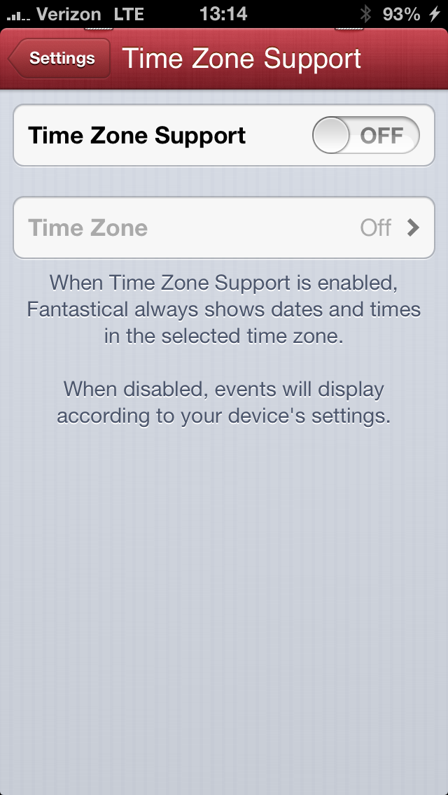Time Zone Support