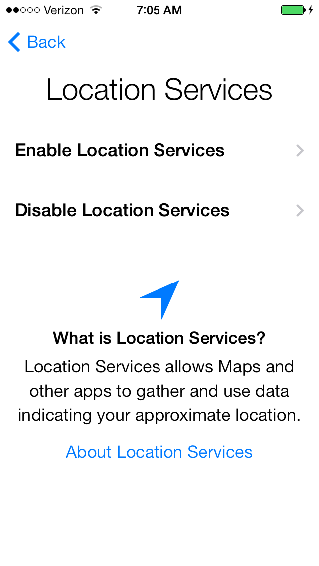 Location Services need to be enabled to allow applications to know where you are.