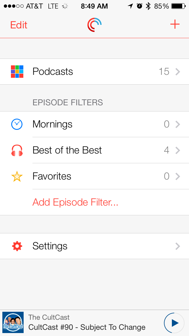Episode Filters