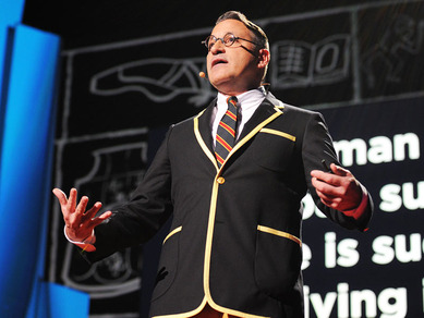 http://www.ted.com/talks/chip_kidd_designing_books_is_no_laughing_matter_ok_i...       There is something about this presentation that really caught my attention. I think it is because of the quirkiness of Chip Kidd, his clothes, his hip wriggling and his wacky sense of humour.      But really, the reason this presentation really got my attention is that it is different.    Of course, it tells a story, all great presentations do, but more than that Chip Kidd takes the humble boring presentation, mixes it with his fantastic personality and then delivers a very compelling argument. But, I think the real key to this presentation is his personality. That is what all presenters need to be doing. Putting their own personality into their presentation.    Sadly, too often presenters stick to the old, tired and frankly boring presentation script, and today that just is not good enough.    Thank you Chip for a truly wonderful presentation.