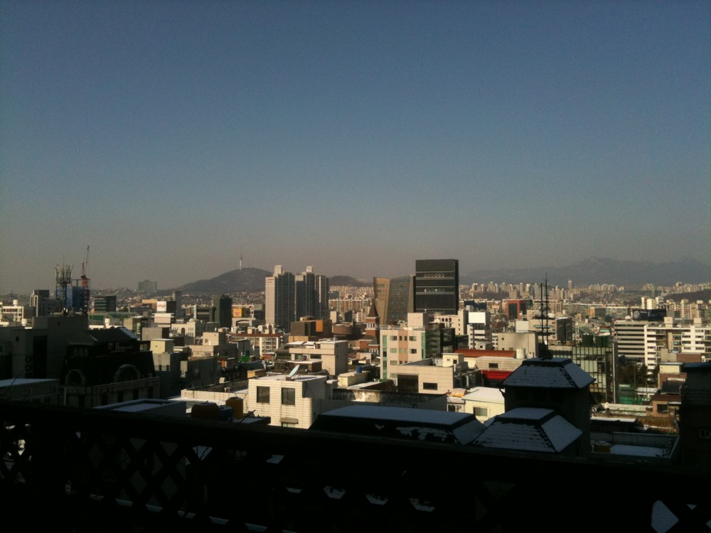 You can see Namsan Tower in the distance... Just ^^