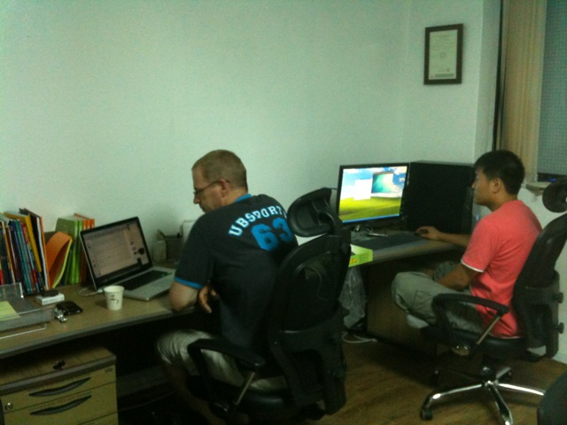 I think we have a busy office ^^ It's 9:30pm and we are still working !!