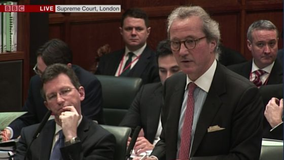 Lord Keen in action at last week's Supreme Court Hearing