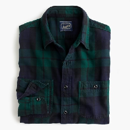 Midweight flannel shirt in Black Watch