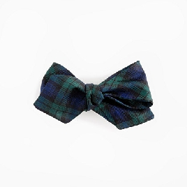 Silk bow tie in Black Watch