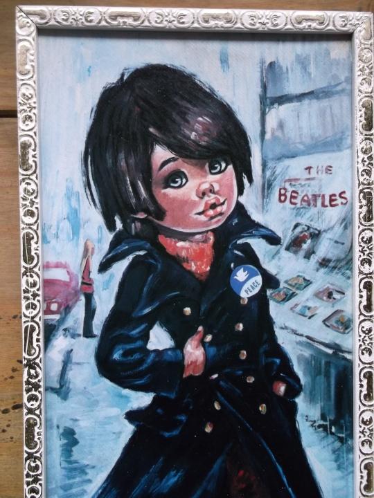 Groovy Beatles' Fan Gypsy Child Painting
