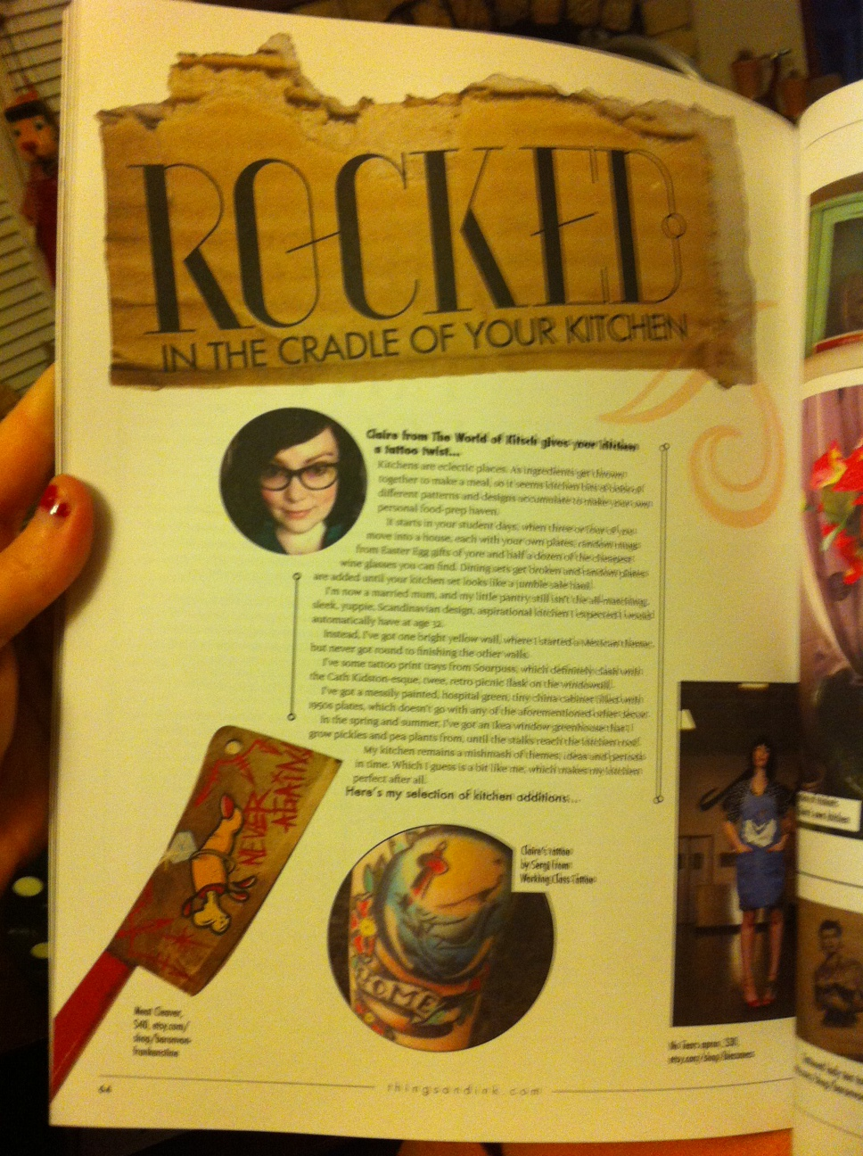 Things & Ink Magazine- Embracing Female Tattoo Culture. Issue 2- The Face