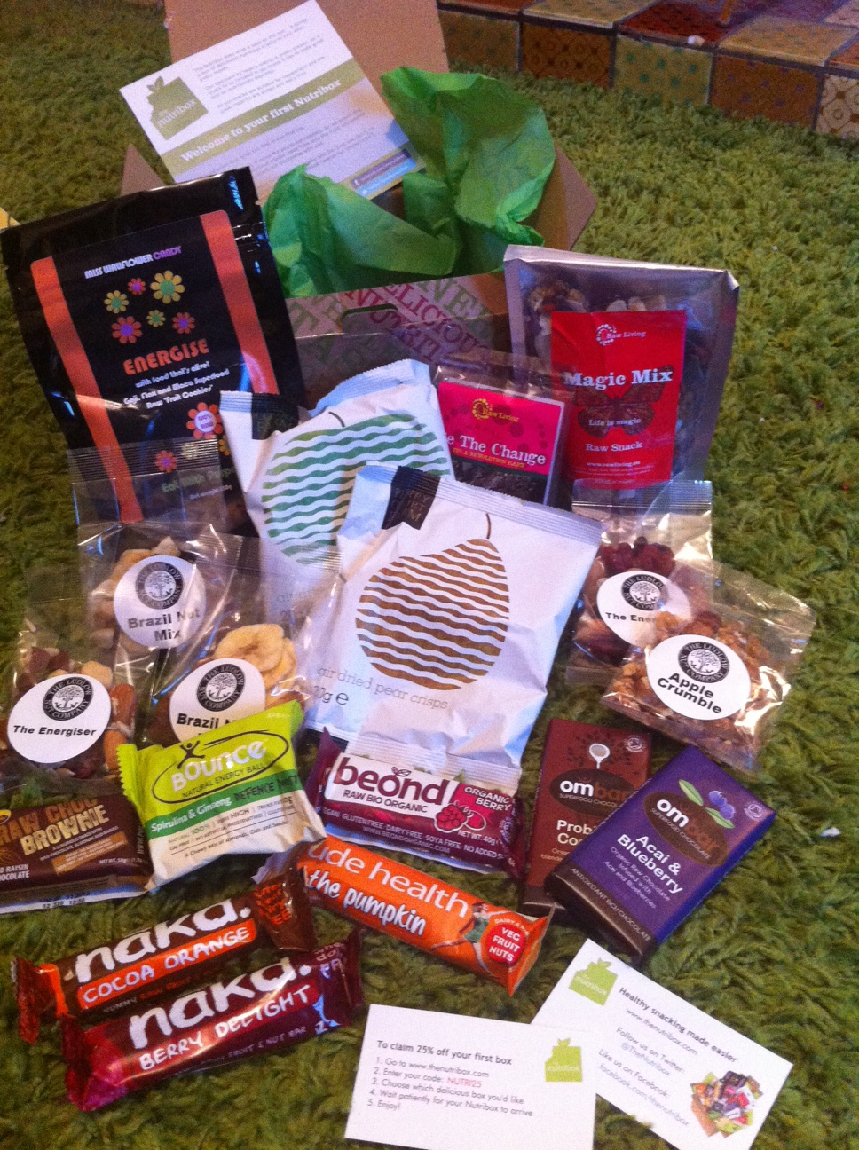 Give Your Healthy Eating Plan a Monthly Kickstart with Surprise Snacks in the Post from The Nutribox