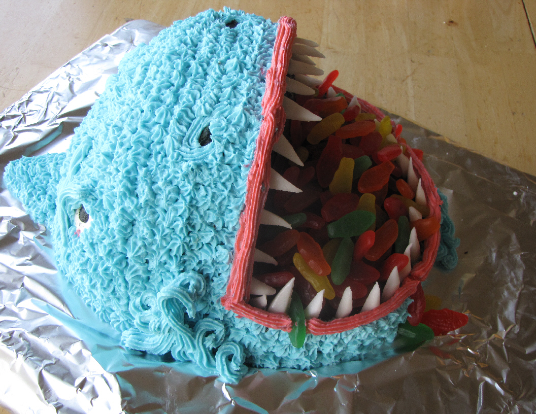 Shark Cakes- Eat them Before They Eat You