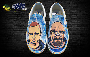 'Drug Runners'- Custom Breaking Bad Trainers