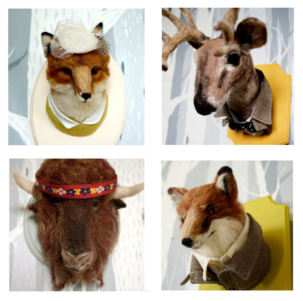 Little Teeth Marks - Stunning Felt Anthropomorphic Taxidermy