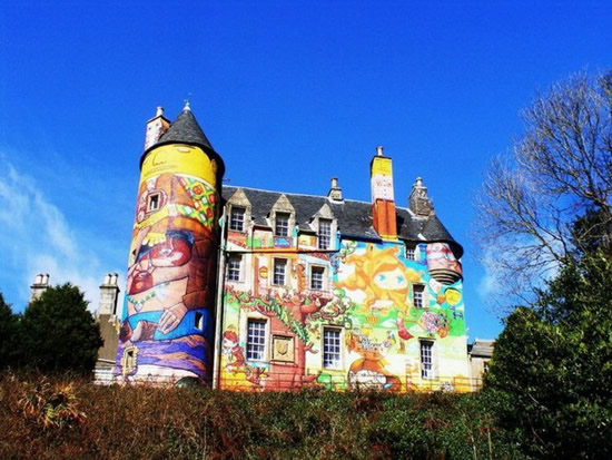 Completely Graffitied Scottish Castle