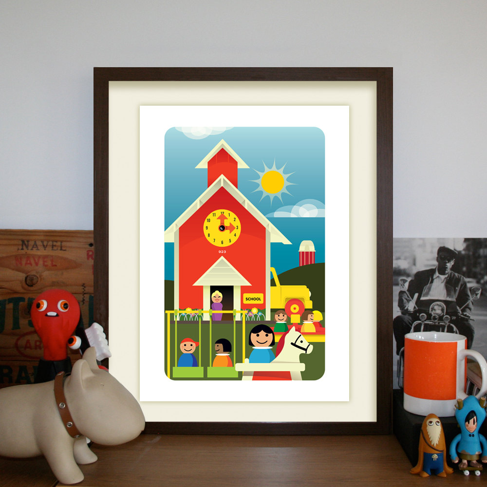 Nostalgalicious Vintage Fisher Price Toy Prints