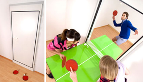 Clever Ping Pong Table Door