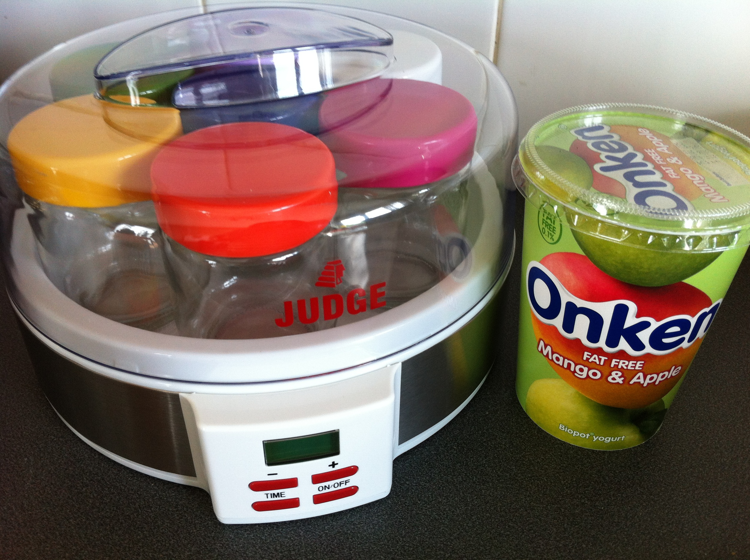 Rainbow Coloured Digital Yoghurt Maker from Judge
