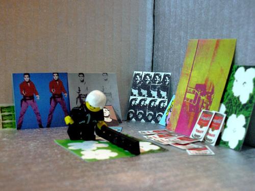 Lego Versions of Warhol Art