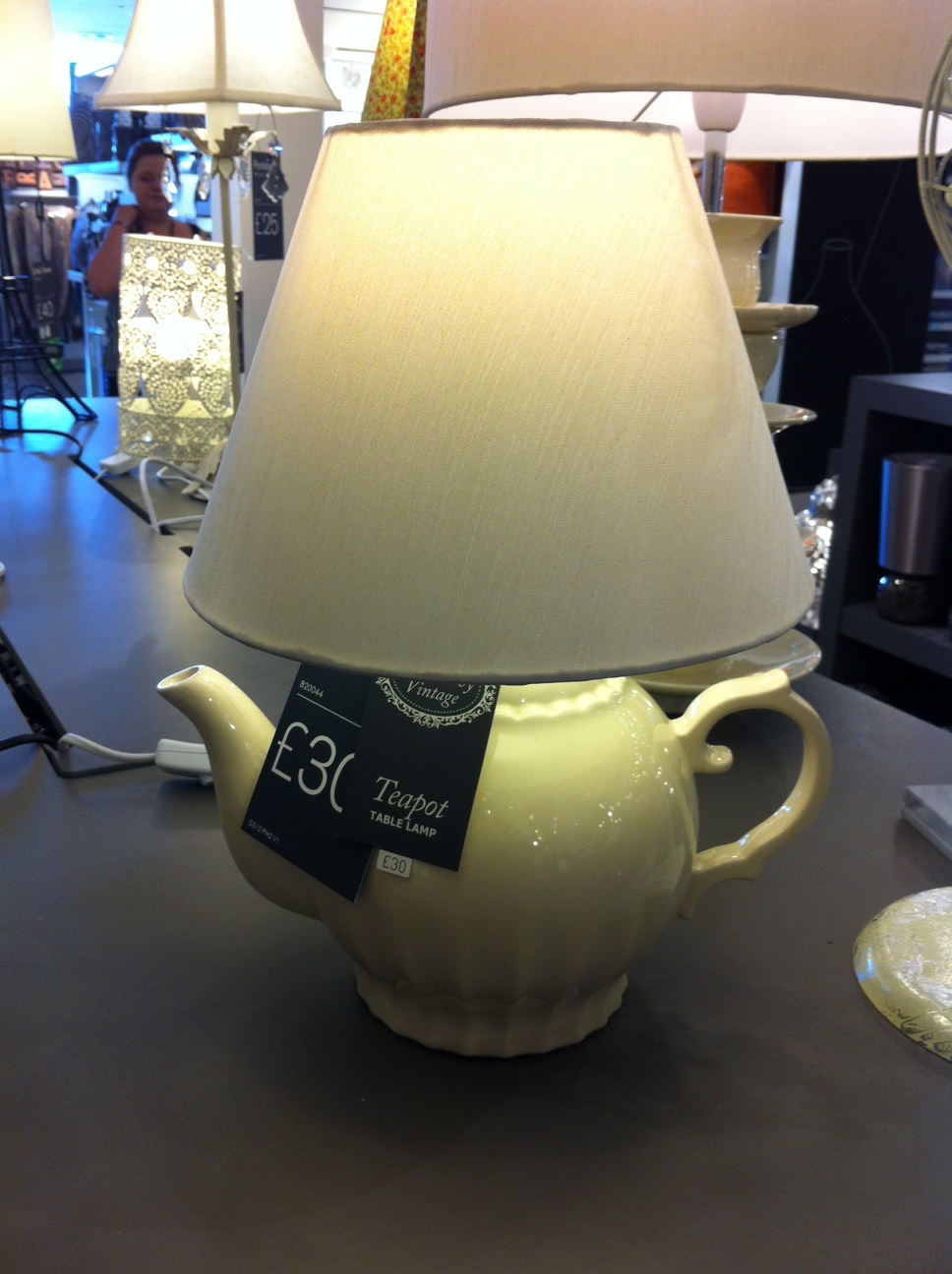 Tea Pot Table Lamp & Tea Cups Standing Lamp from Next