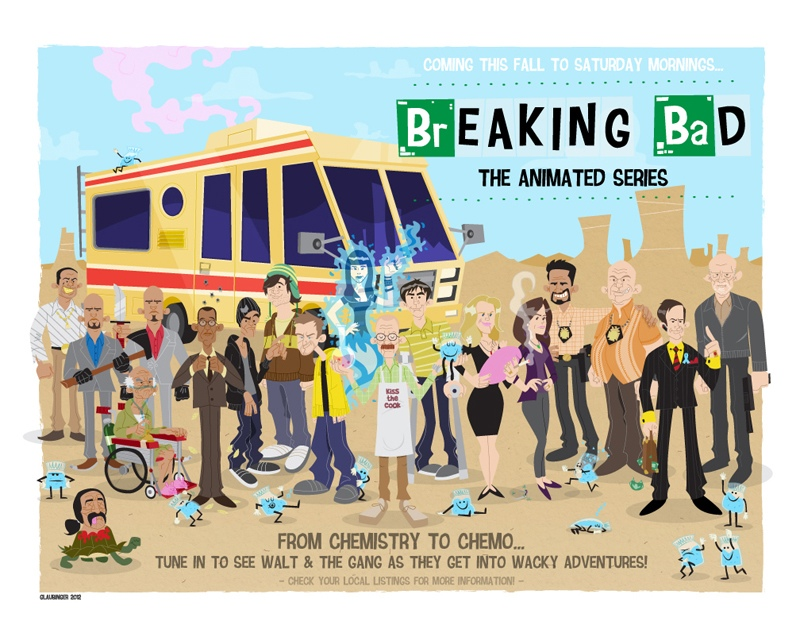 Breaking Bad- The Art Show Gives Us Cartoon Walt & Jesse
