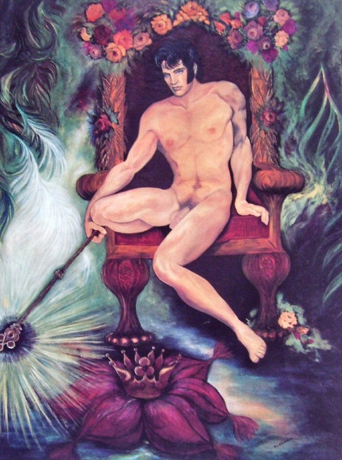 Naked Elvis on a Throne - Slightly NSFW