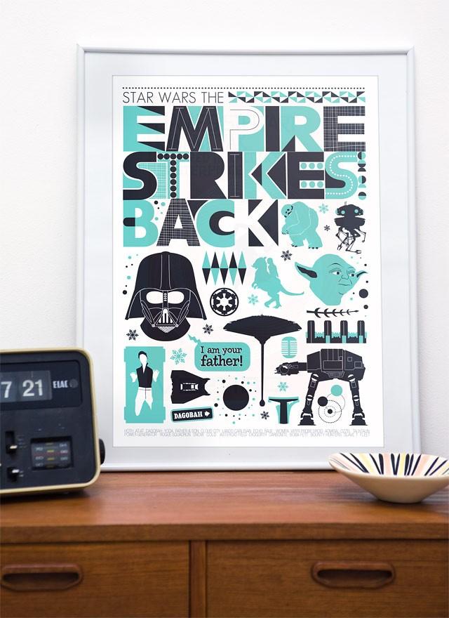 Sleek Scandinavian Design Star Wars Posters