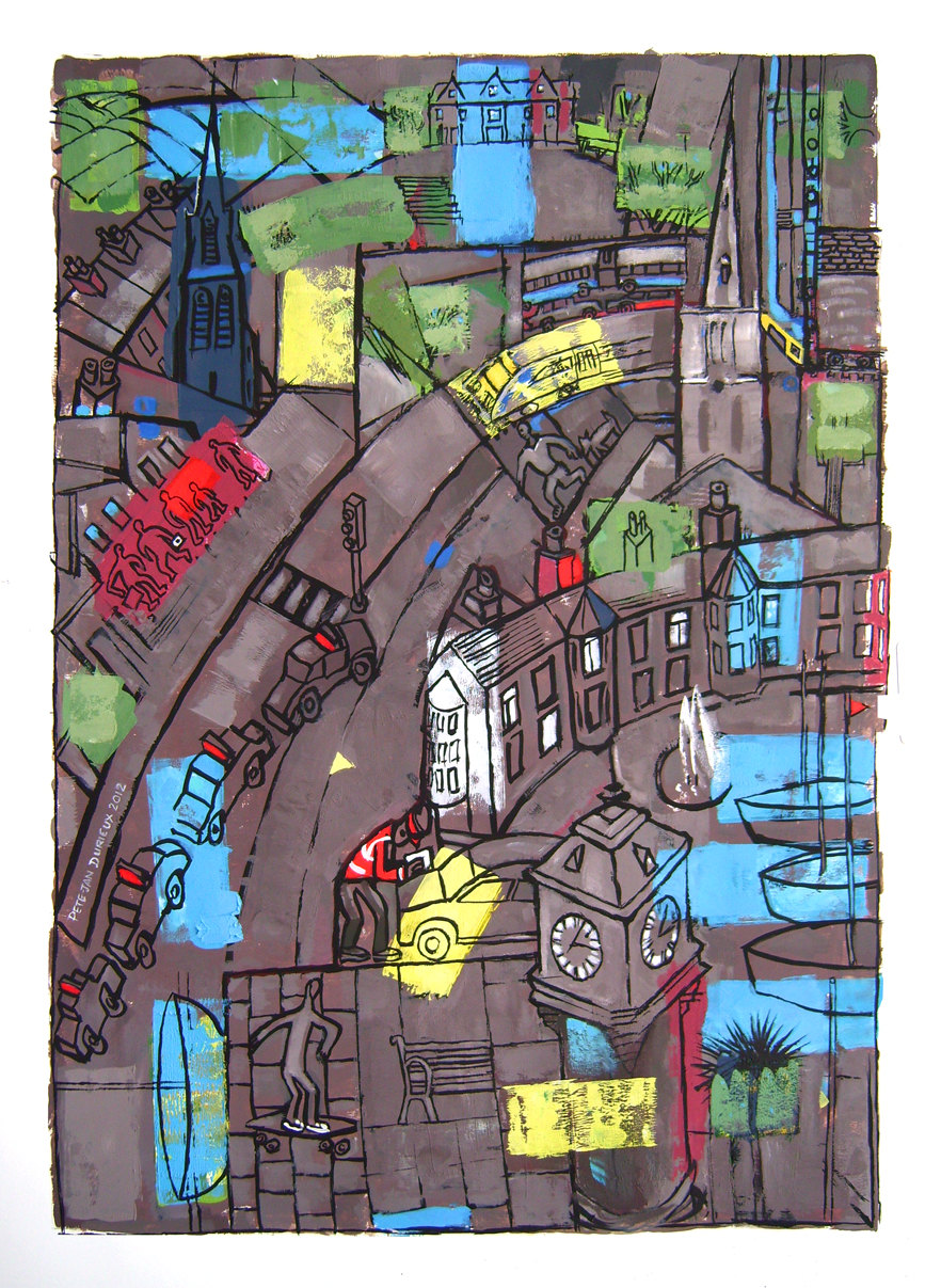 Illustrations of my Home Town by Peter Durieux