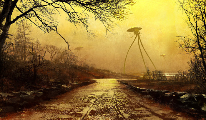 Terrifying War of the Worlds Illustrations