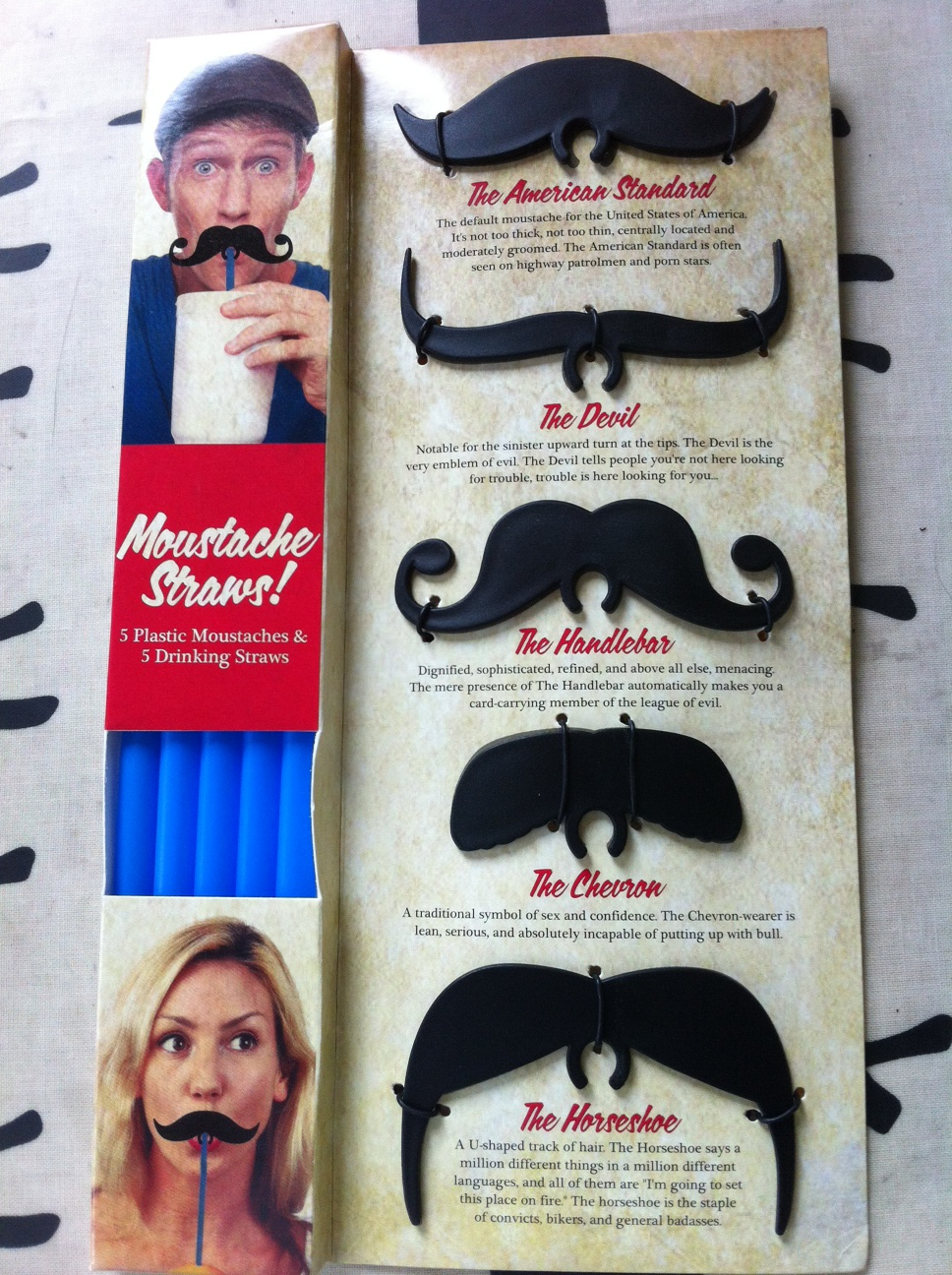 My 'Pinged' Moustache Straws & 30% off Parcel Genie for World of Kitsch Readers