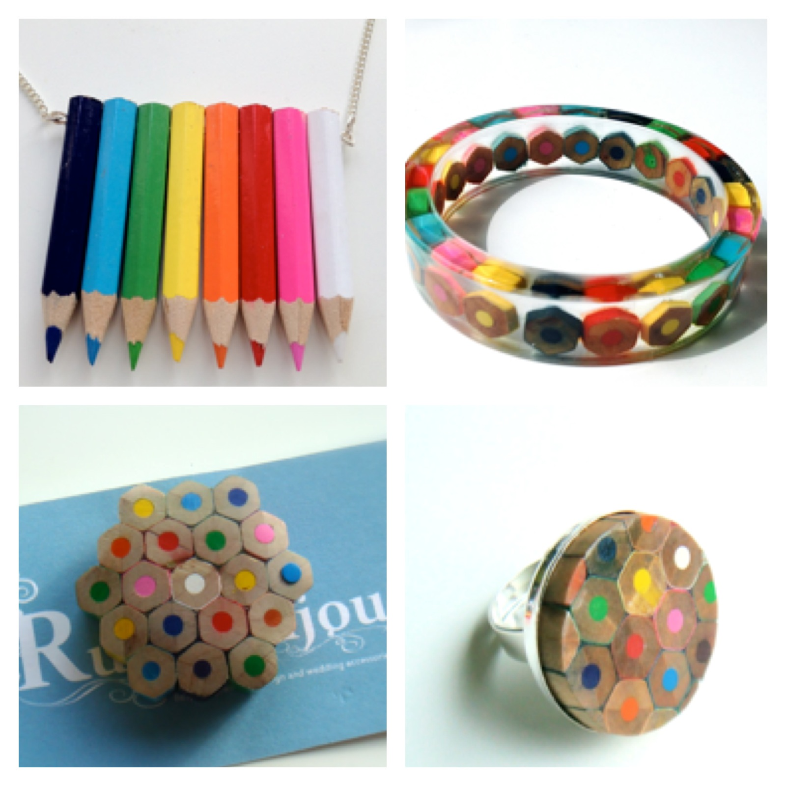 Colouring Pencil Jewellery from Ruby Bijou