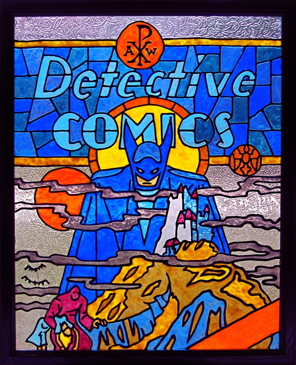 Stained Glass Comic Book Covers