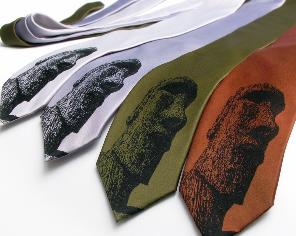 Scatterbrain Silk Ties- Foxes, Easter Island Heads & Mister Toad