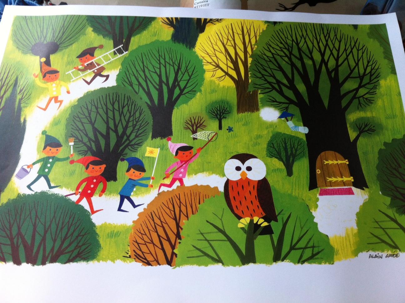 Whimsical 1960s' Illustration Prints by Alain Grée via Anorak Magazine