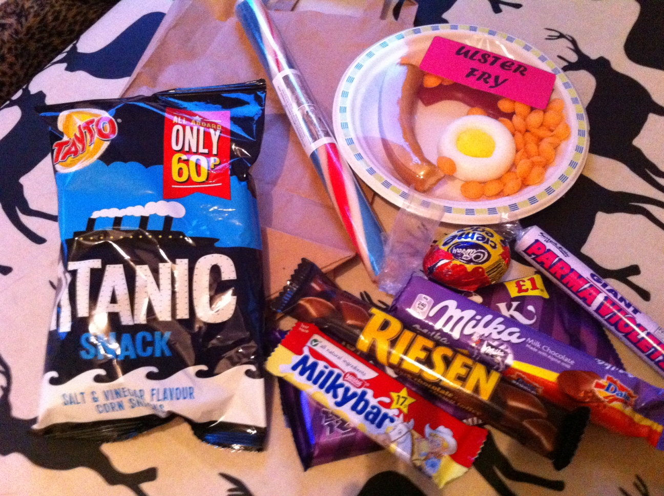 Titanic Crisps & A Sugar Ulster Fry. Goodies from Aunt Sandra's Candy Factory for my US Candy Penpal