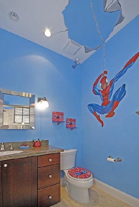The Amazing Spiderman... Bathroom