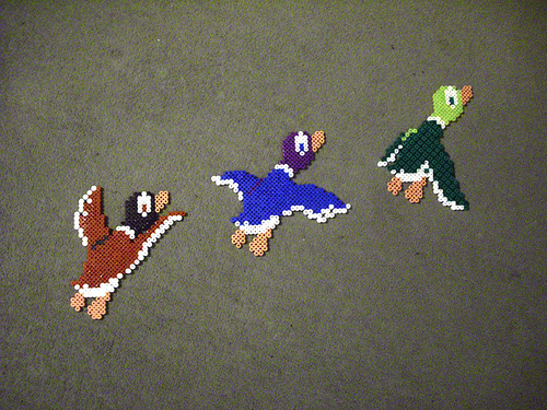 NES Version of Wall Plaque Flying Ducks