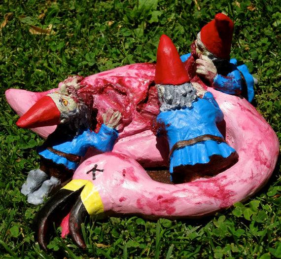 Lawn Flamingoes of DOOM!
