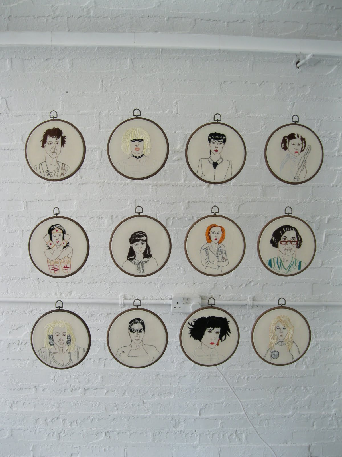 Three Men & a Baby Embroidery & The Terrifically Twee Stitchings of Reena Makwana