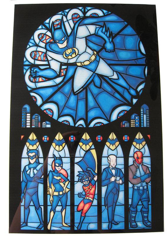 Beautiful Batman Stained Glass
