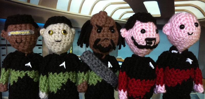 Knitted Doctor Who & Star Trek