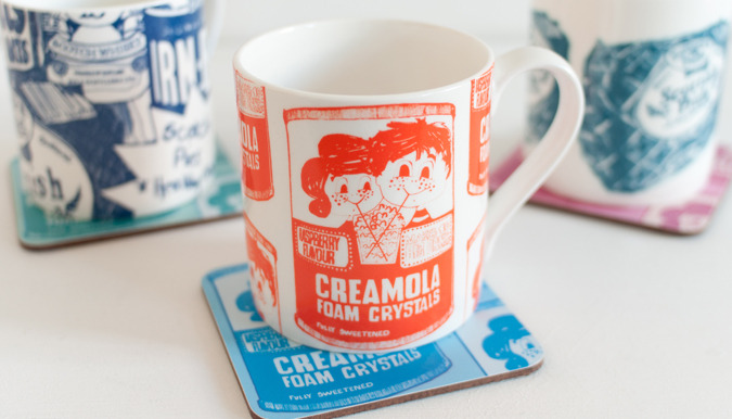 Creamola Foam Bags, Aprons, Mugs & Tees by Gillian Kyle