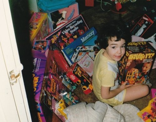 Photos of 80's Toys being Opened at Christmas